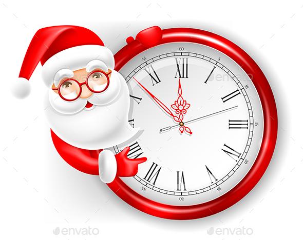 Santa Claus and Circle Clock