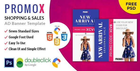 Promox | Shopping HTML 5 Animated Google Banner