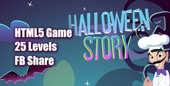 Halloween Story HTML5 Game [ 25 levels ] Download