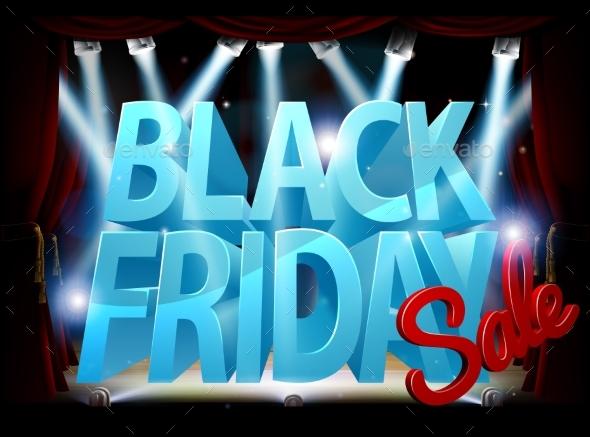 Black Friday Stage Sale Sign