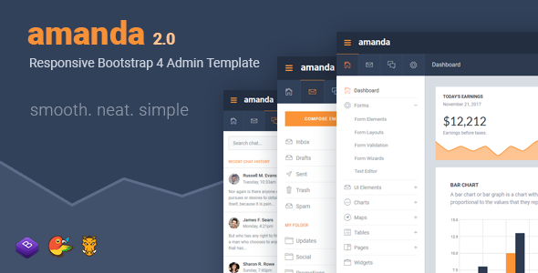 Bootstrap 4 Templates from ThemeForest