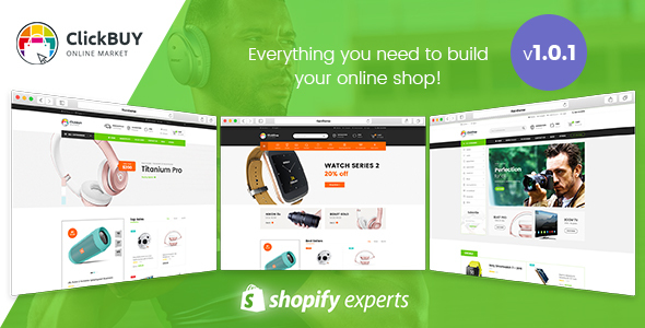ClickBuy - Multi Store Responsive Shopify Theme