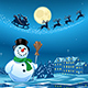 Snowman in Christmas Night - GraphicRiver Item for Sale