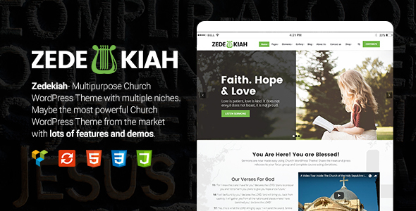Zedekiah - MultiPurpose Church & Religion WordPress Theme