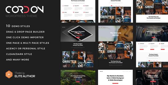Cordon - Responsive One & Multi Page Portfolio Theme