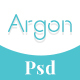 Argon - Book Author Portfolio, Landing, Blog PSD Template - ThemeForest Item for Sale