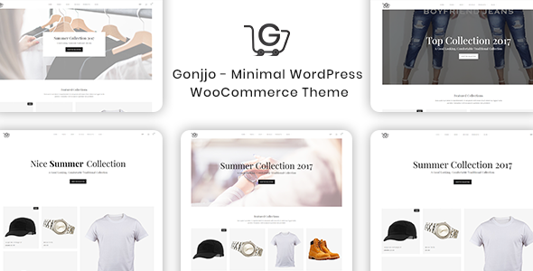 Gonjjo - Minimal WooCommerce WordPress Theme