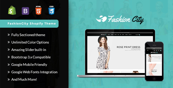 Fashion City -Shopify  Responsive Sectioned Theme