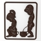 Water closet (toilet) signboard Bas relief - 3DOcean Item for Sale