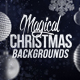 4 Christmas Backgrounds with Editable Text - GraphicRiver Item for Sale
