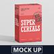 Cereals Box Mockup - Big Size - GraphicRiver Item for Sale