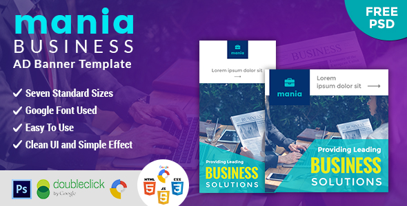 Mania | Business HTML 5 Animated Google Banner