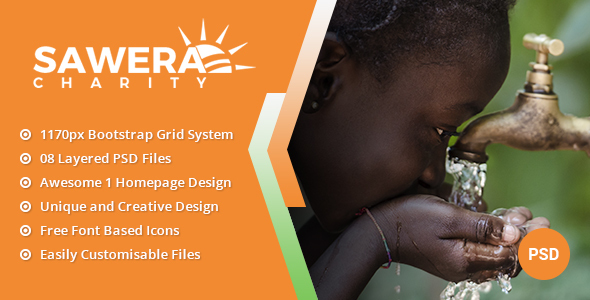 Sawera - Charity PSD Template