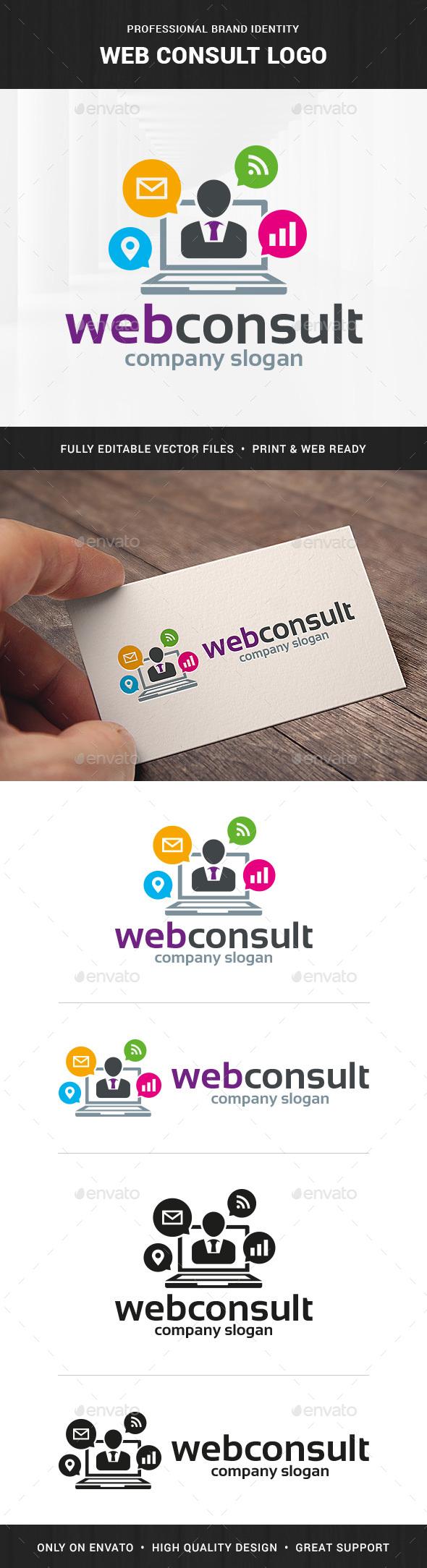 Web Consult Logo Template