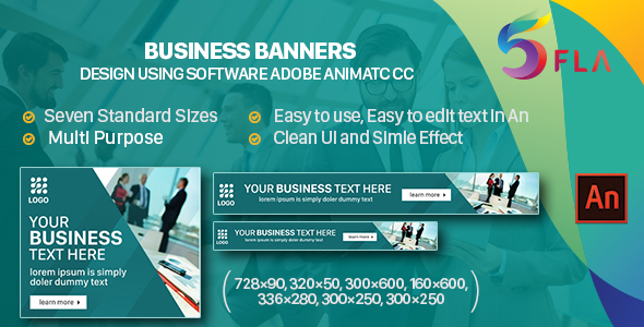 Business Banners HTML5 - 7 Sizes - (Animate CC)