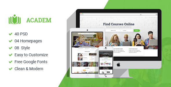 Academ | Multiconcept College & Education PSD Template