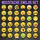 Vector Emoji Moustache Set - GraphicRiver Item for Sale