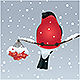 Christmas Background with Birdie - GraphicRiver Item for Sale