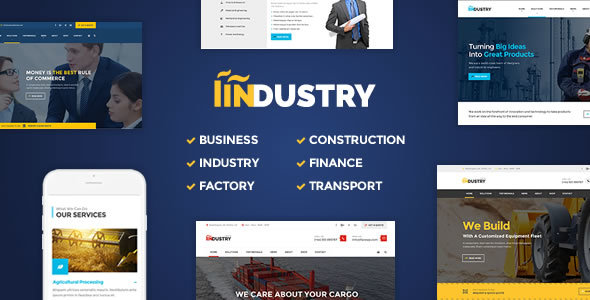 Industry - Factory, Construction WordPress Theme