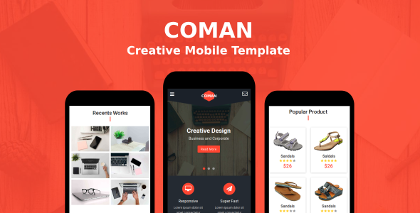 Coman - Creative Mobile Template