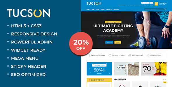 Tucson - Sports, Fitness and Gym Responsive WooCommerce WordPress Theme