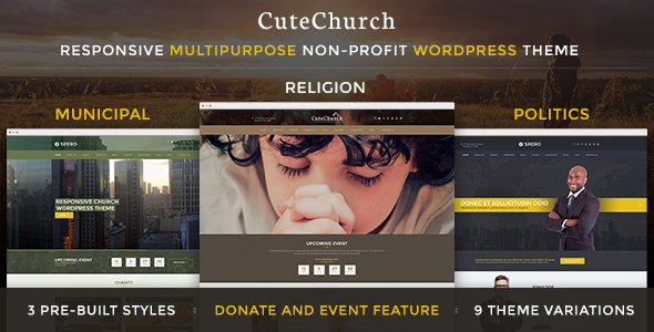 Religion & Political — CuteChurch WP Theme