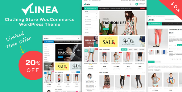 Linea - Clothing Store WooCommerce WordPress Theme