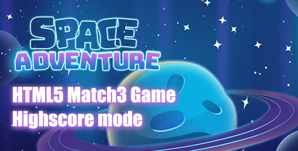 Space Adventures Match3 HTML5 Game Download