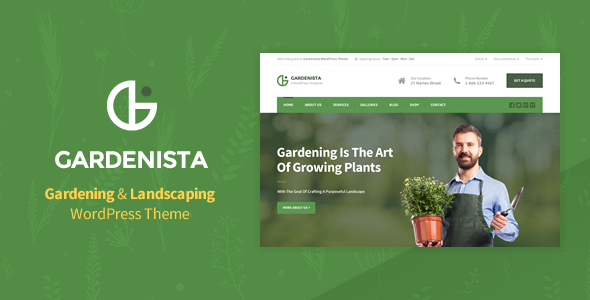 Gardenista - Gardening, Landscaping and Business WordPress Theme
