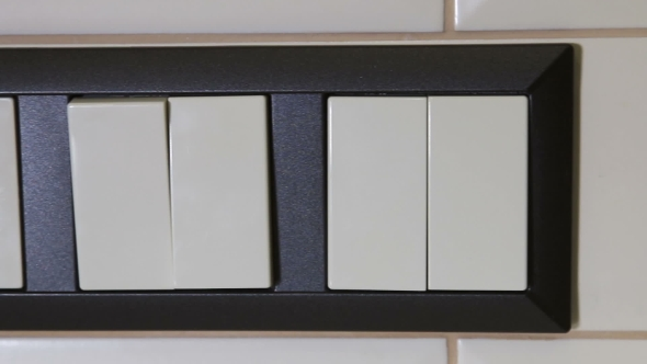 Multifunction Switch Power Sockets on the Kitchen Wall
