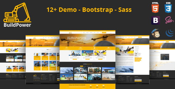 BuildPower – Construction Business HTML Template