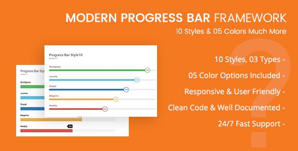 CSS3 Progressbar Framework