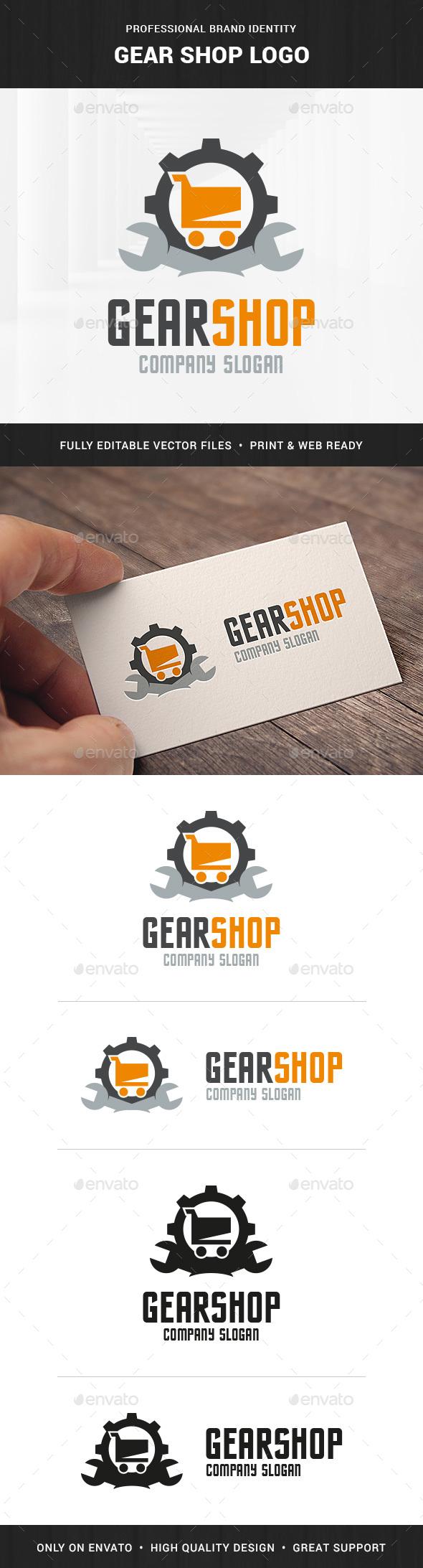 Gear Shop Logo Template