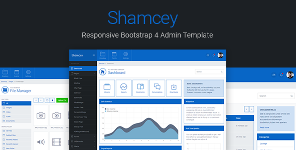Shamcey Metro Style Bootstrap 4 Admin Template