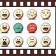 Set of Retro Emoji Emoticons - GraphicRiver Item for Sale