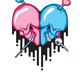 Skull Heart Shape - GraphicRiver Item for Sale