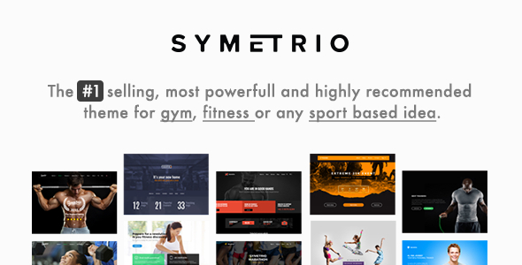 Symetrio - Gym & Fitness WordPress Theme