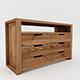 Rustic wood nite stand - 3DOcean Item for Sale
