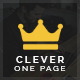 Clever One Page - Creative WordPress Theme - ThemeForest Item for Sale