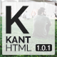 Kant - A Multipurpose Template For Startups And Freelancers - ThemeForest Item for Sale