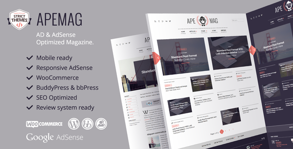 Apemag - Stylish WordPress Theme Magazine with Review System