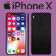 Black Iphone X 3D Model - 3DOcean Item for Sale