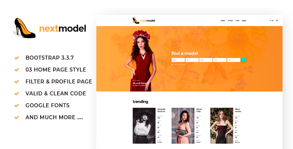 Next Model - Media Agency & Listing Website Template