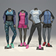 Female mannequin Nike pack 2 3D model - 3DOcean Item for Sale