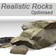 Realistic Rocks Pack - 3DOcean Item for Sale