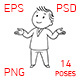 Male Character for Whiteboard Part 2 - GraphicRiver Item for Sale