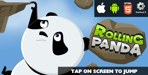 Rolling Panda - HTML5 Game (CAPX)