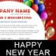 New Year Greetings / Birthday Greetings - 3 COLORs