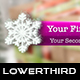 Christmas Snowflakes Lower Thirds - VideoHive Item for Sale
