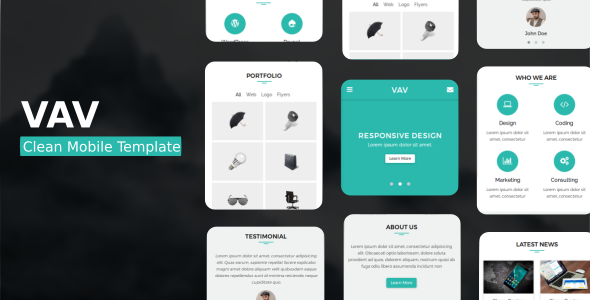 VAV - Clean Mobile Template